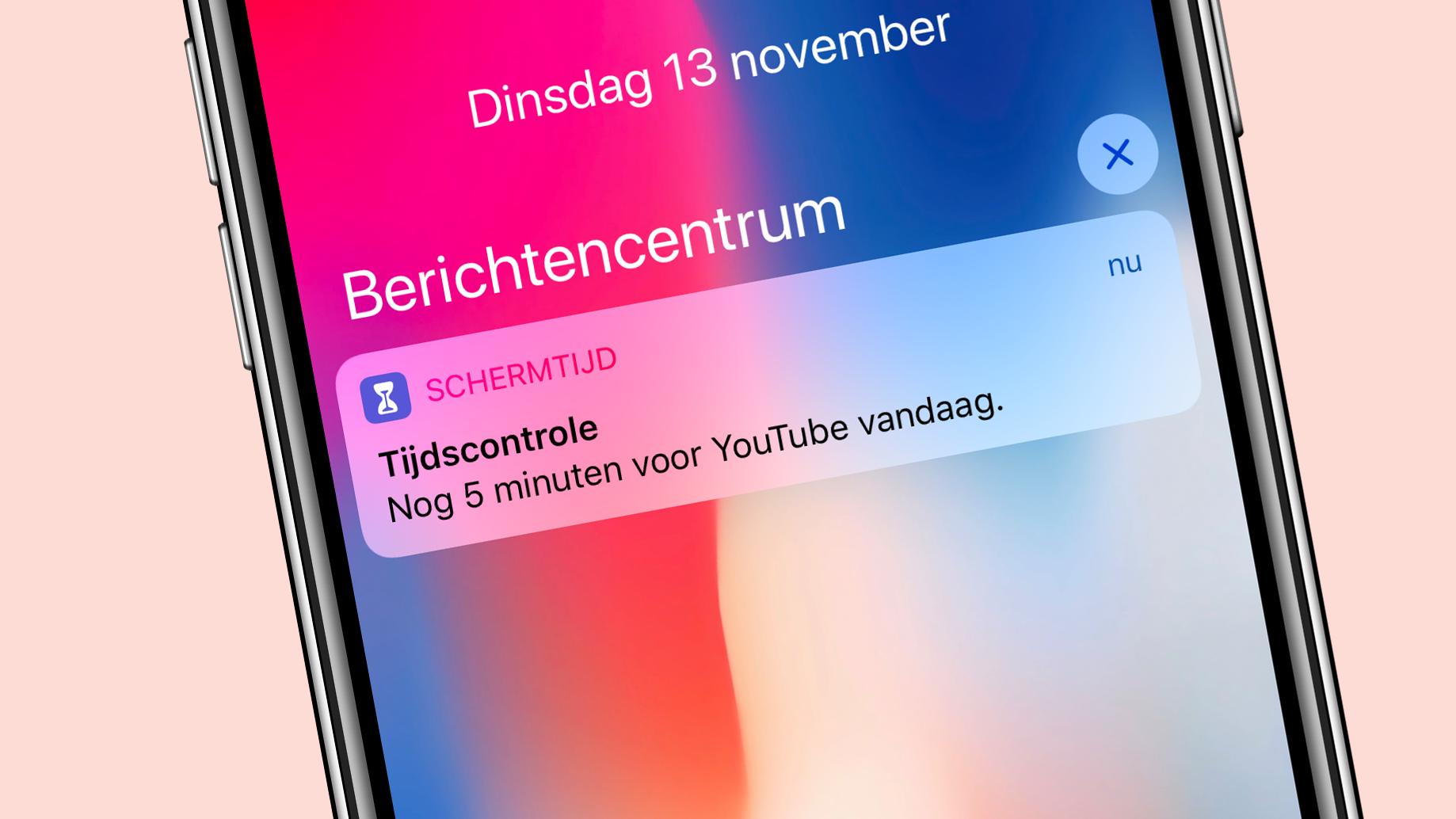 Schermtijd in iOS 12