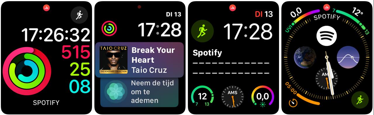 Spotify Apple Watch wijzerplaten 001