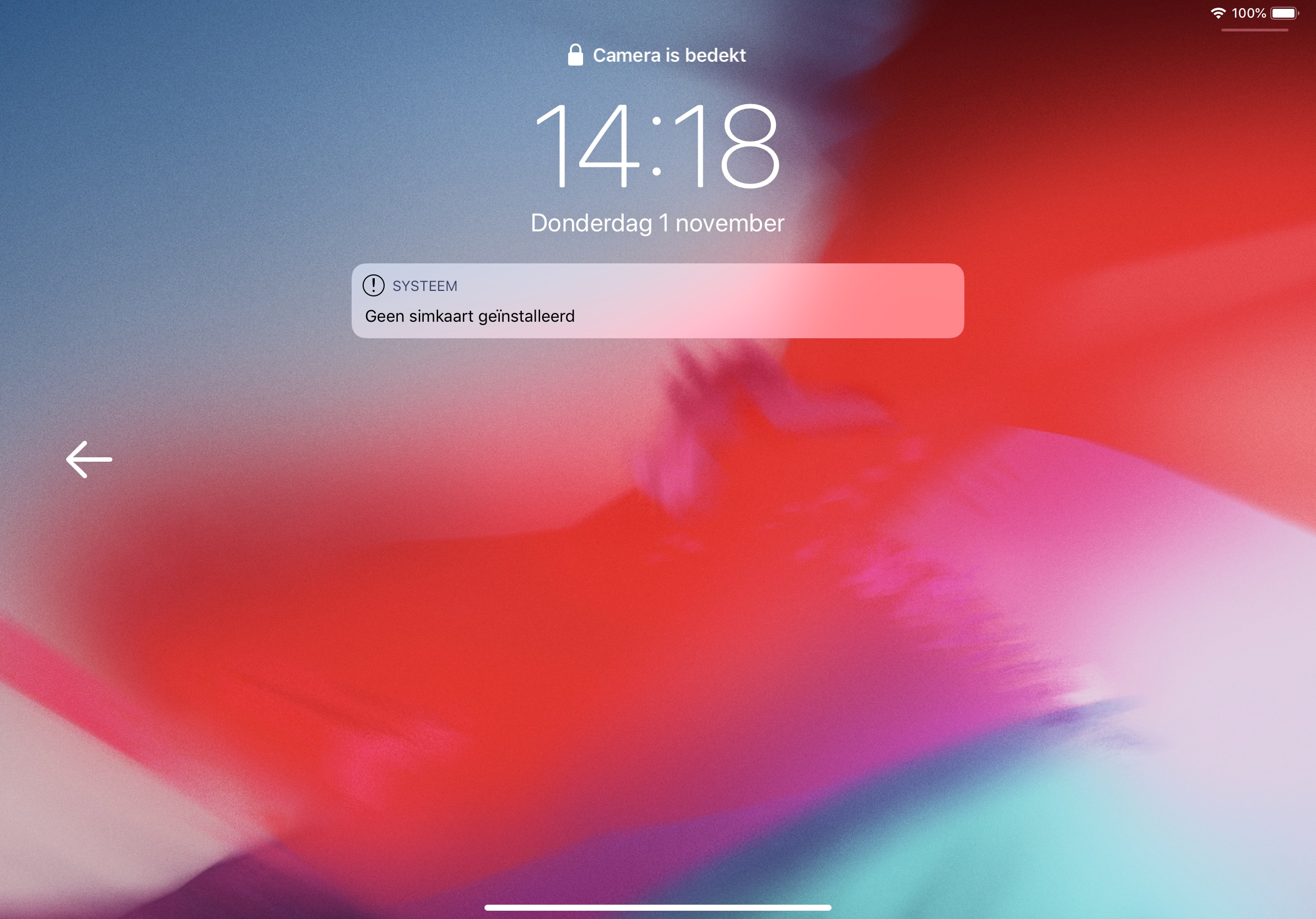 iPad Pro 2018 camera bedekt