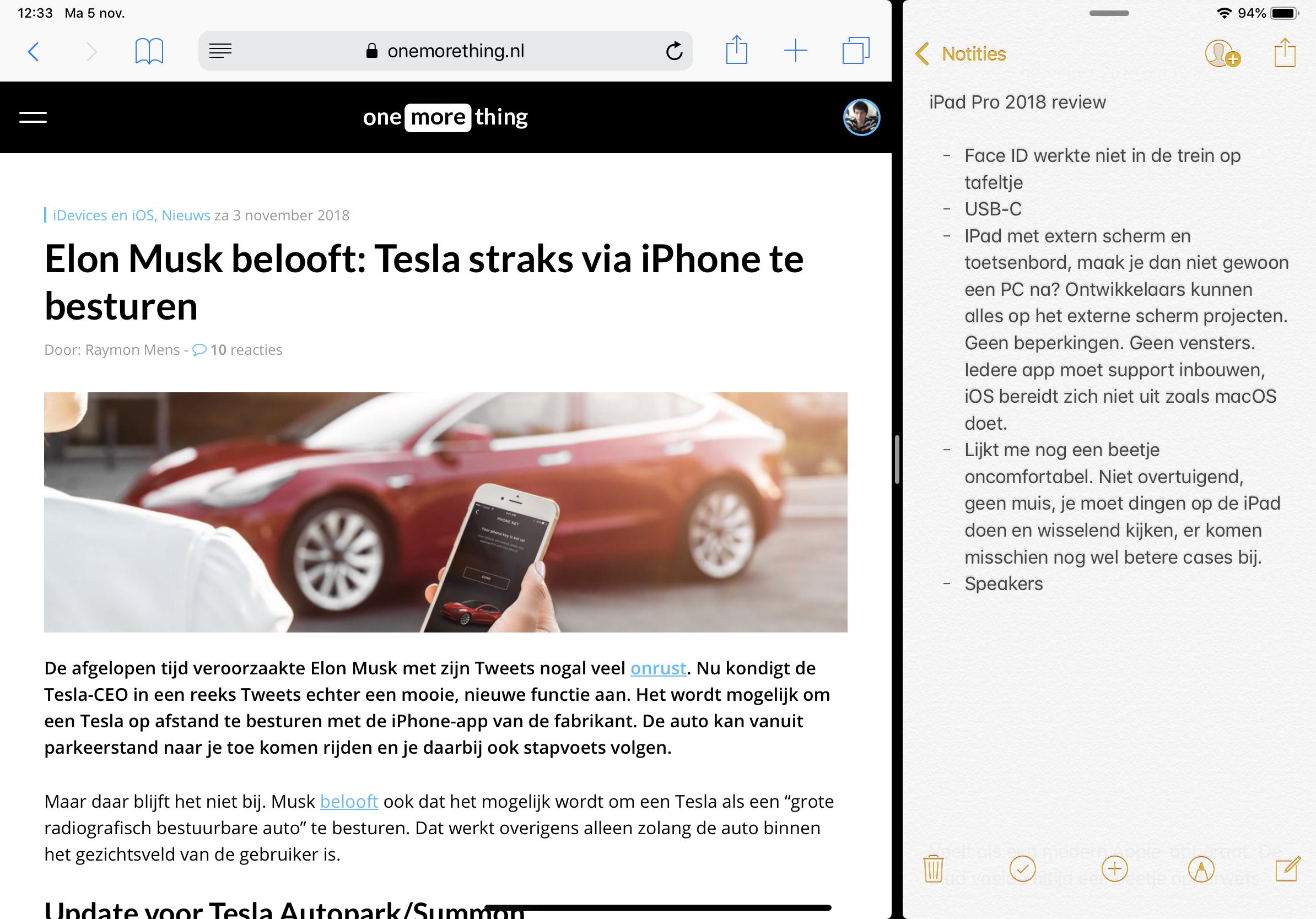 iPad Pro 2018 multitasken