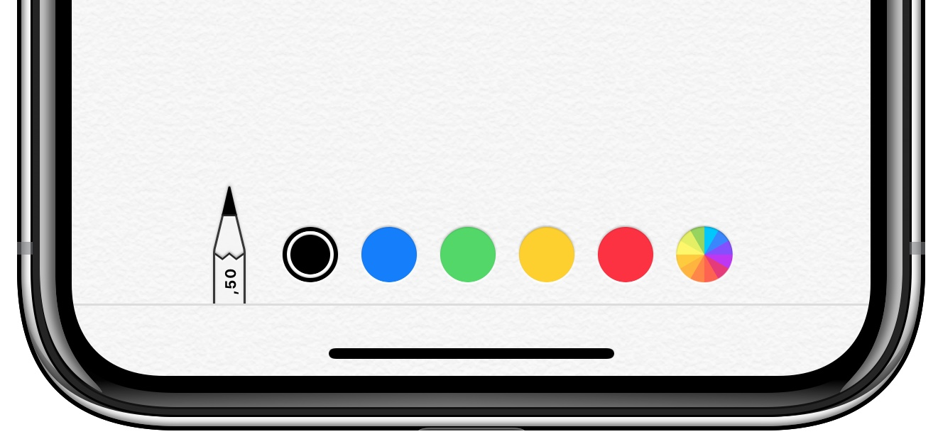 iPhone XR tekenen