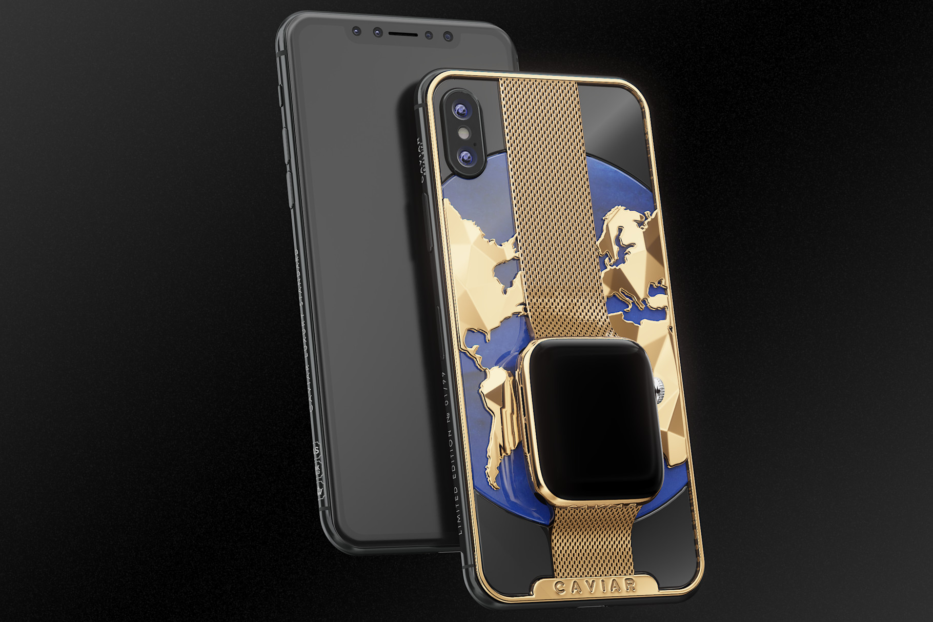iPhone Xs Apple Watch Caviar