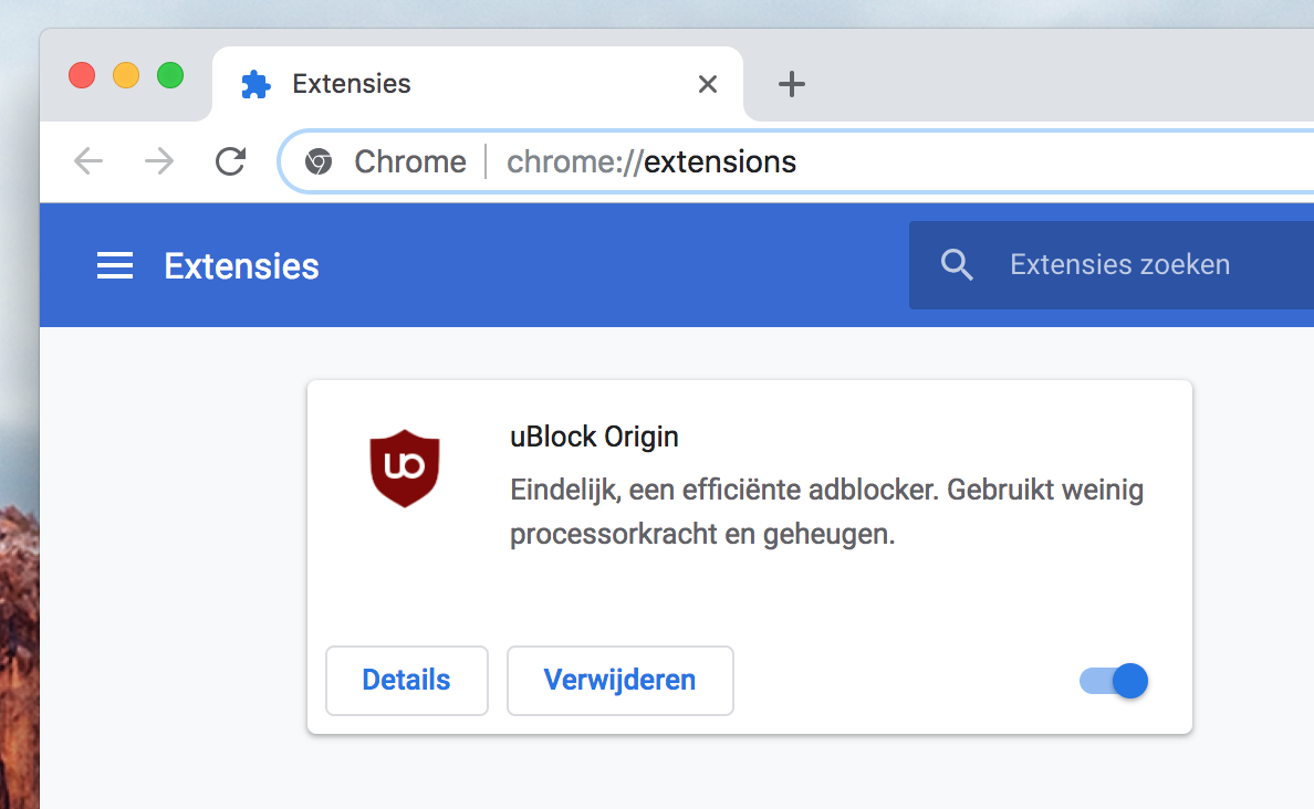 Google Chrome uBlock