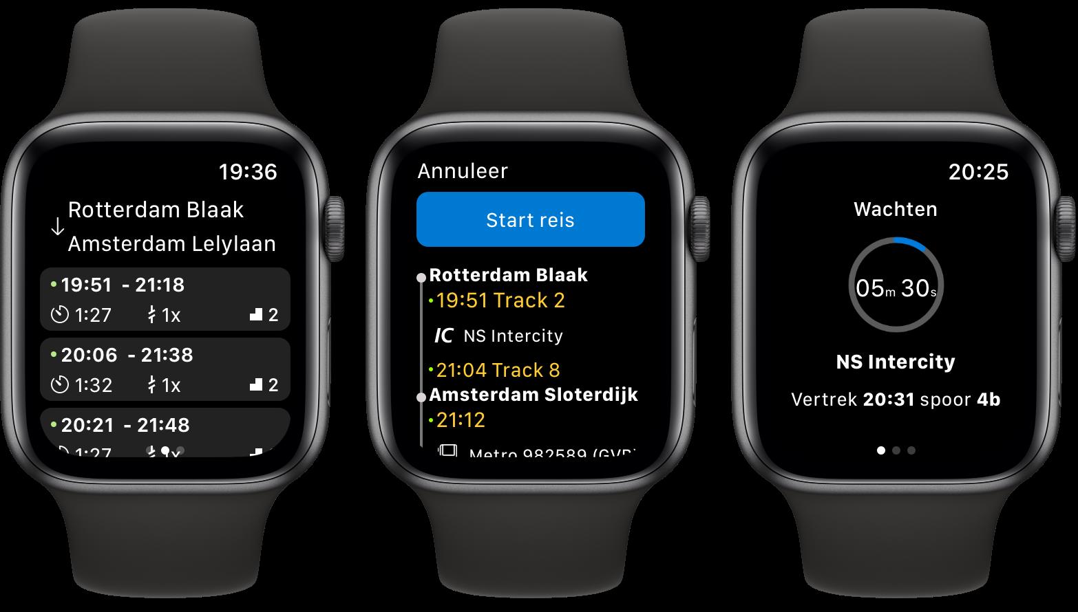 NS app Apple Watch screenshots