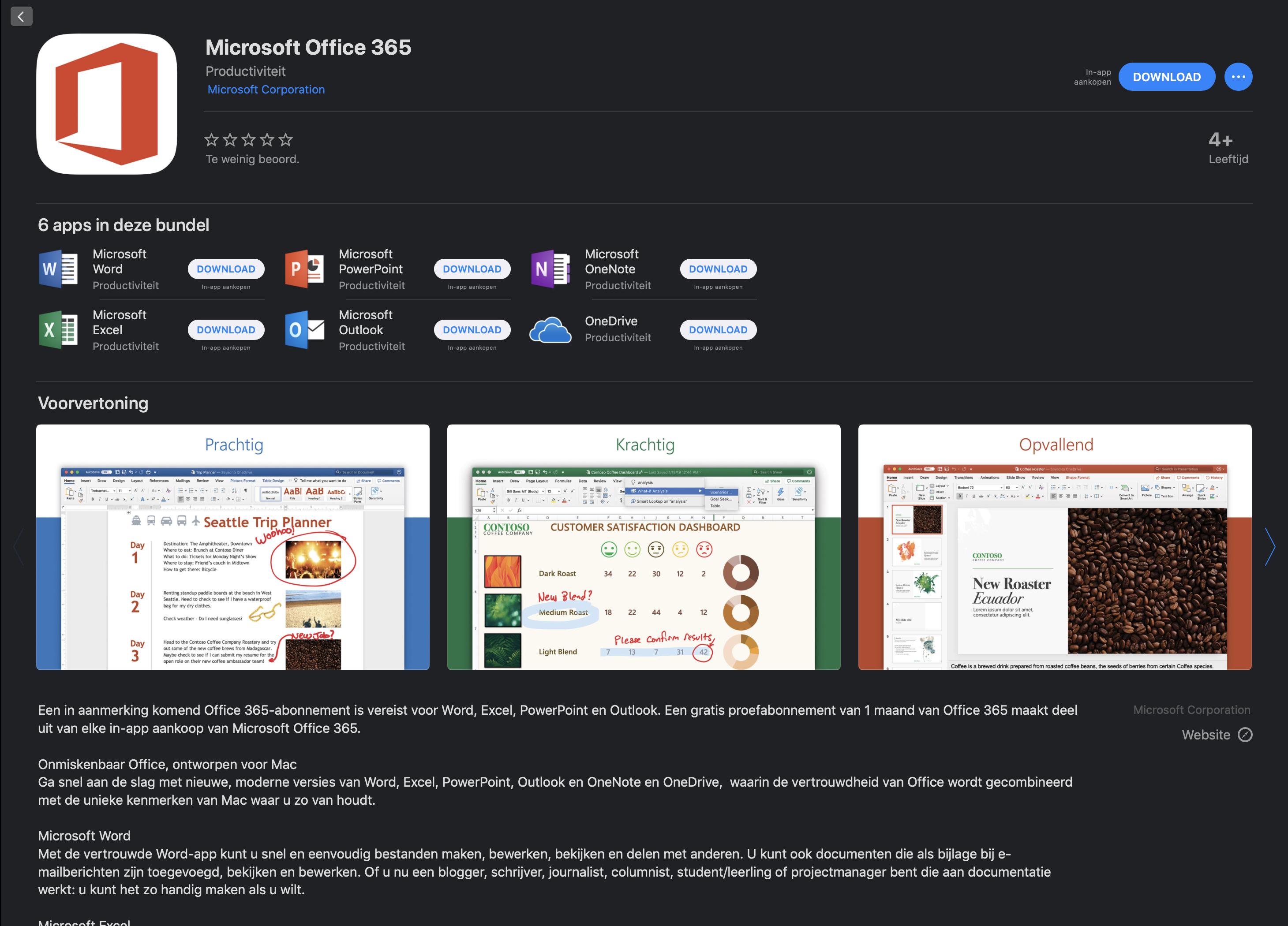 Hedendaags Microsoft Office nu in de Mac App Store verkrijgbaar » One More Thing EM-71