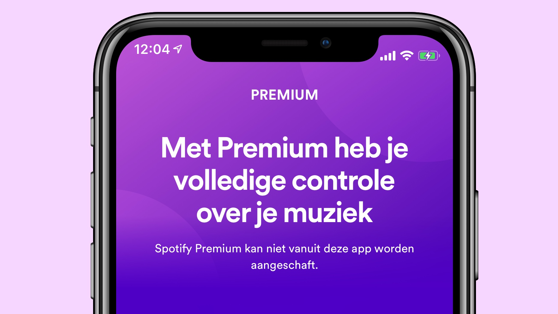 Spotify premium app store