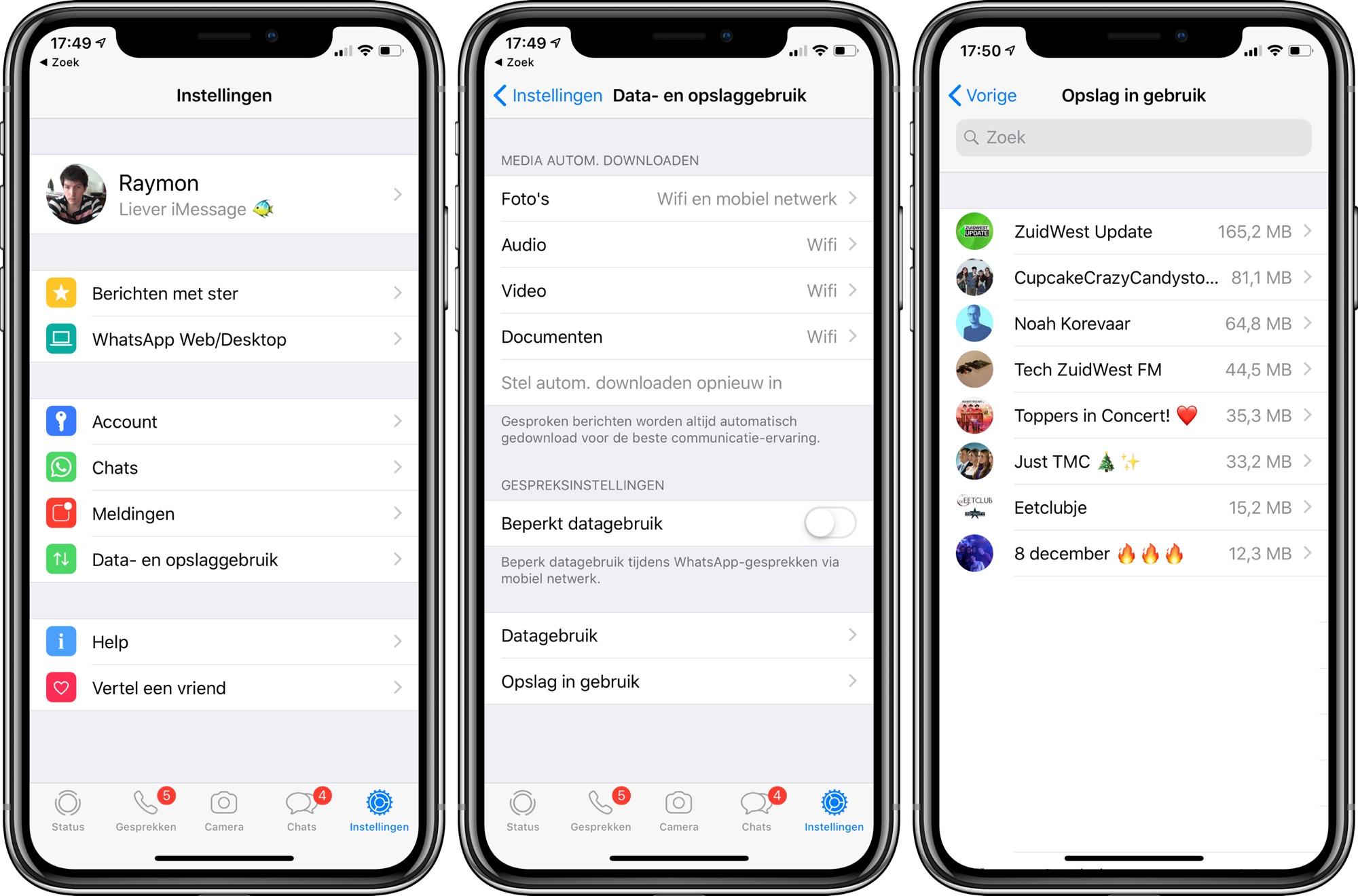WhatsApp opruimen iPhone ruimte maken 001