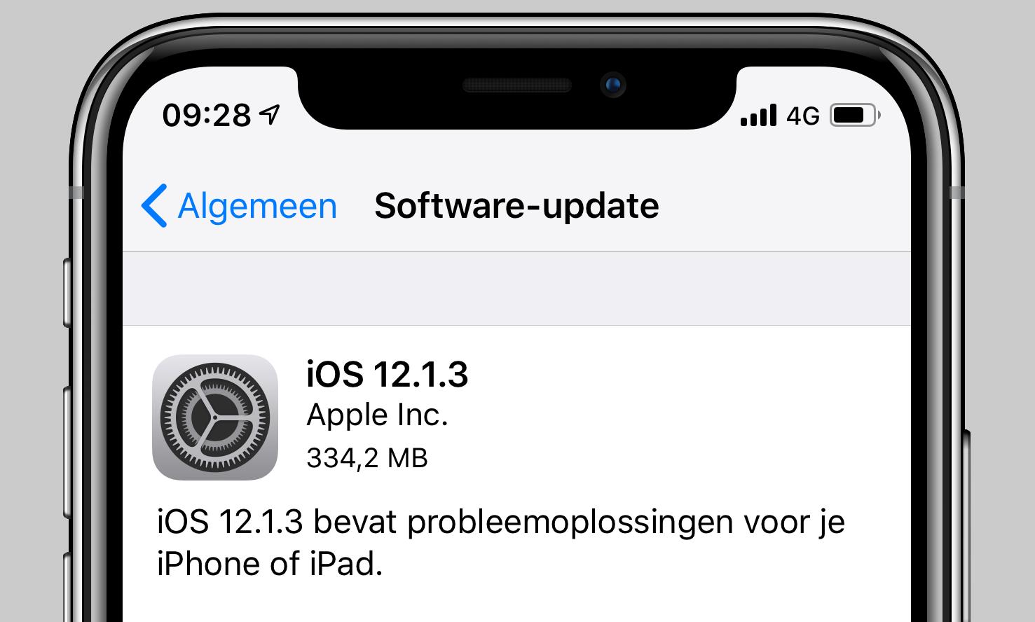 iOS 12.1.3 update