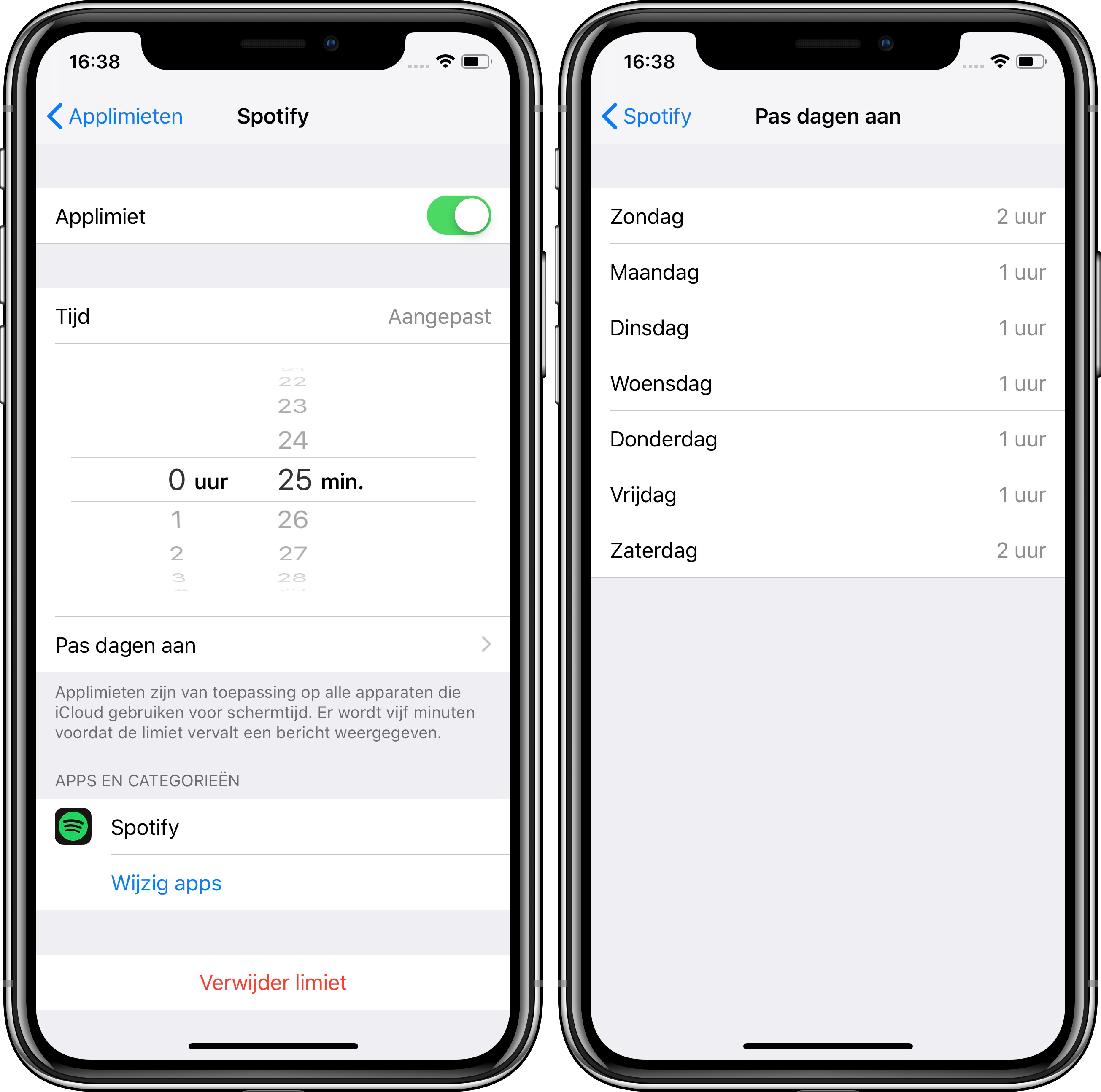 The iOS 12.2 application limits screen time