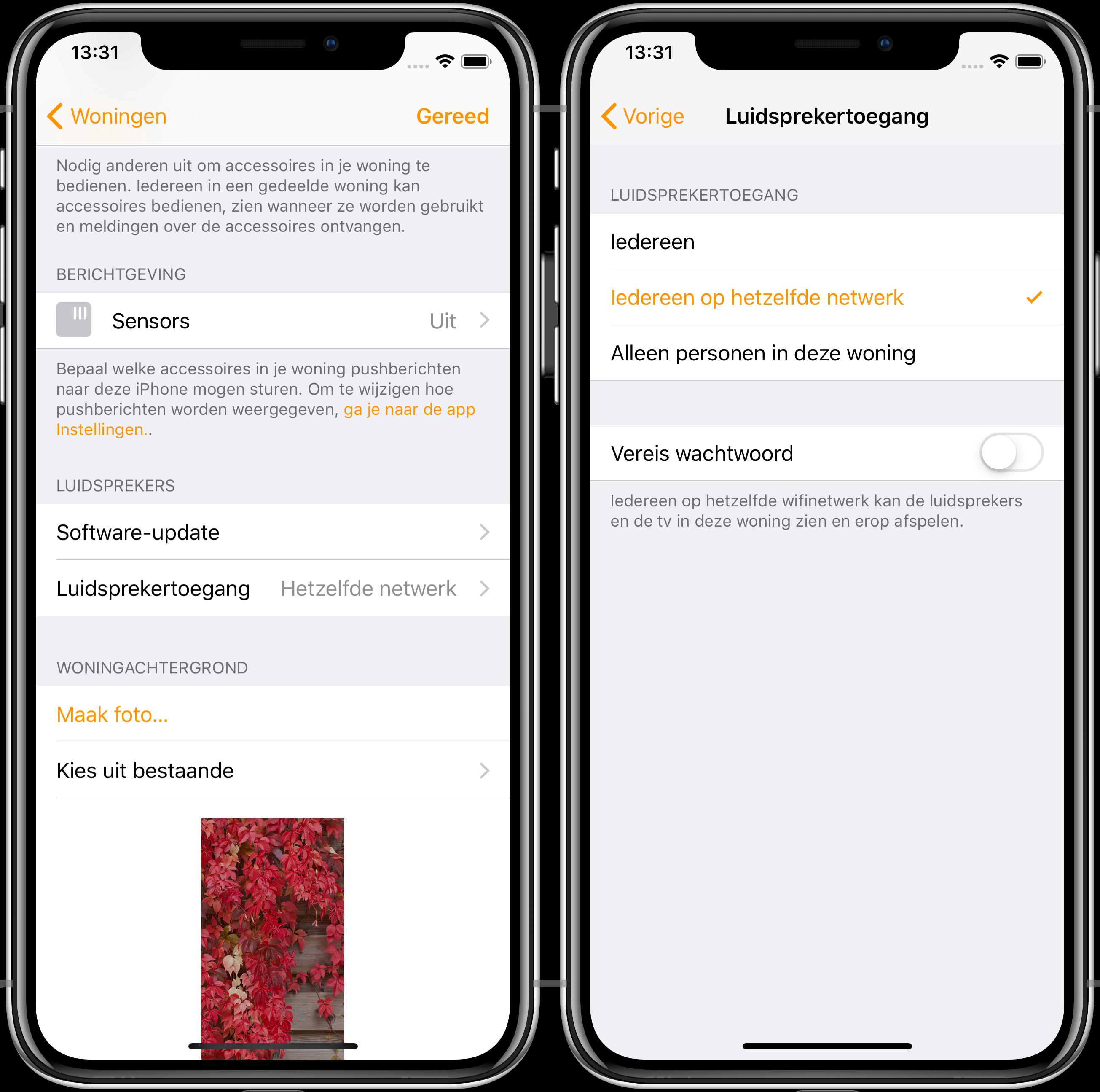 iOS 12.2 woning luidsprekers tv's