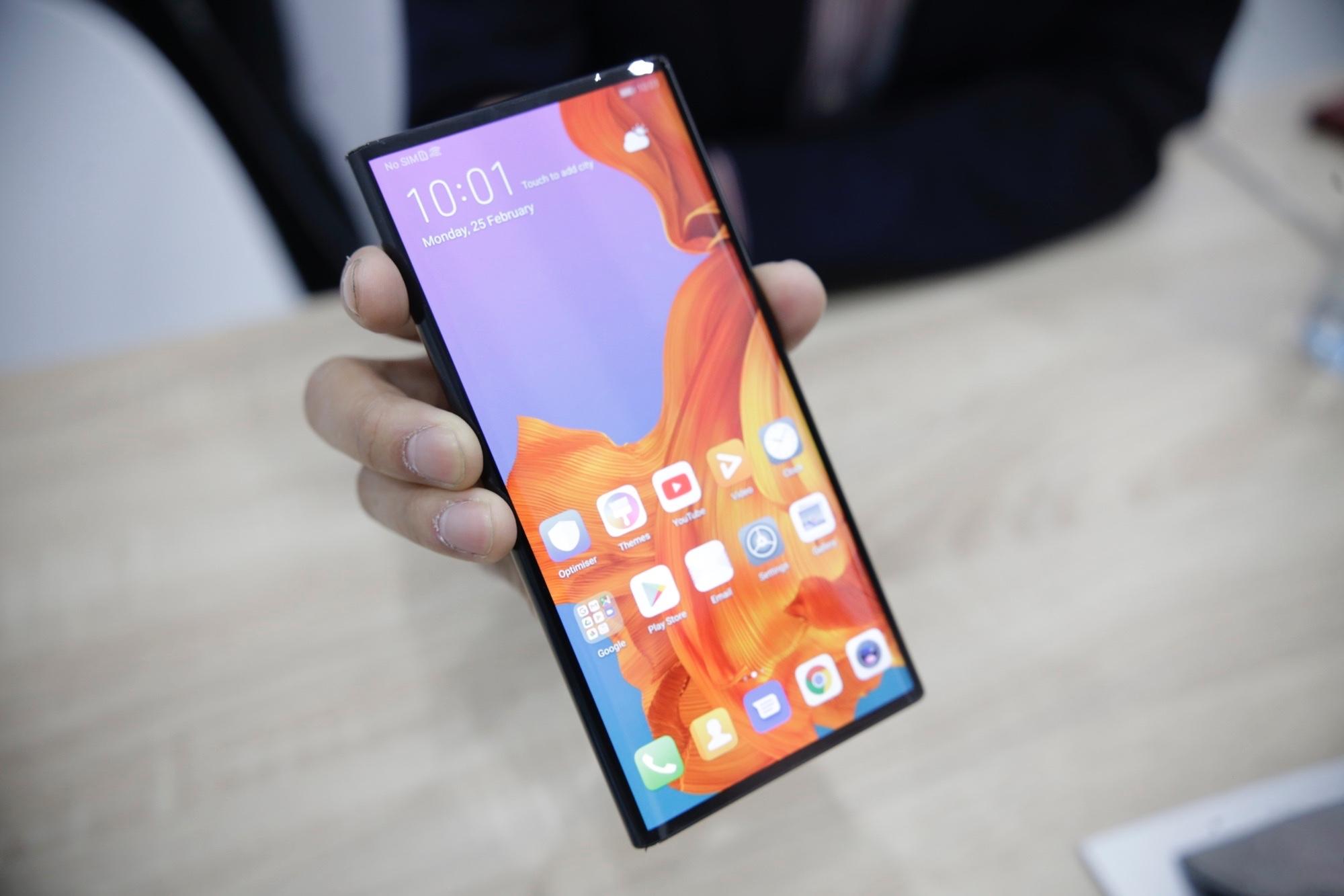 Huawei Mate X dicht voorste scherm