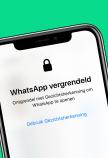 WhatsApp vergrendeld iPhone