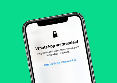 WhatsApp vergrendeld iPhone