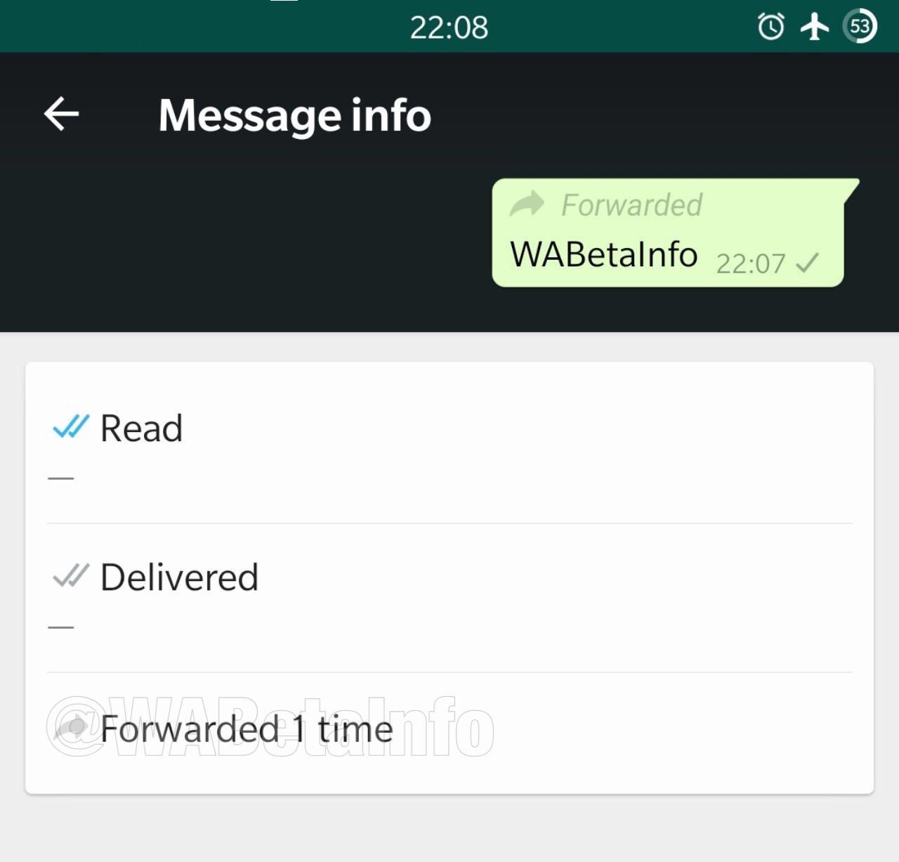 WhatsApp bericht doorsturen