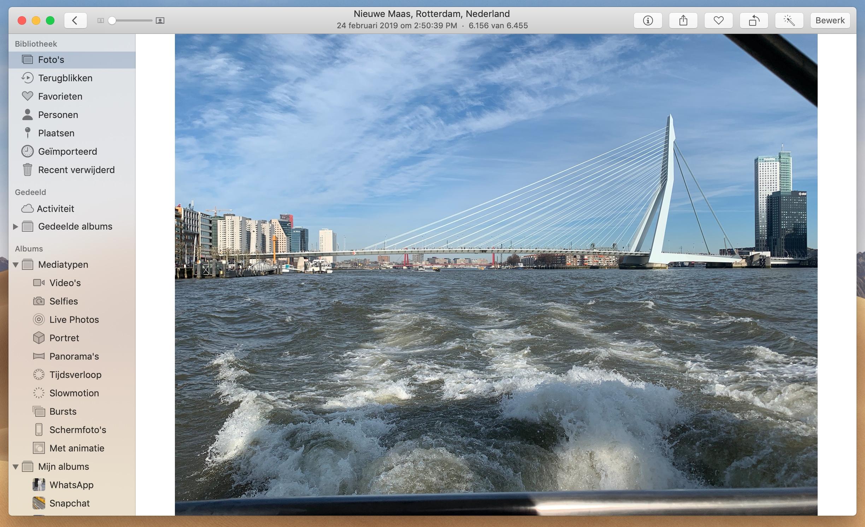 macOS Mojave 10.14.4 Foto's-app