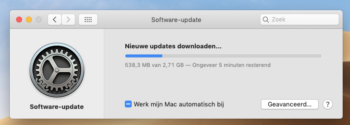 macOS Mojave 10.14.4 installeren