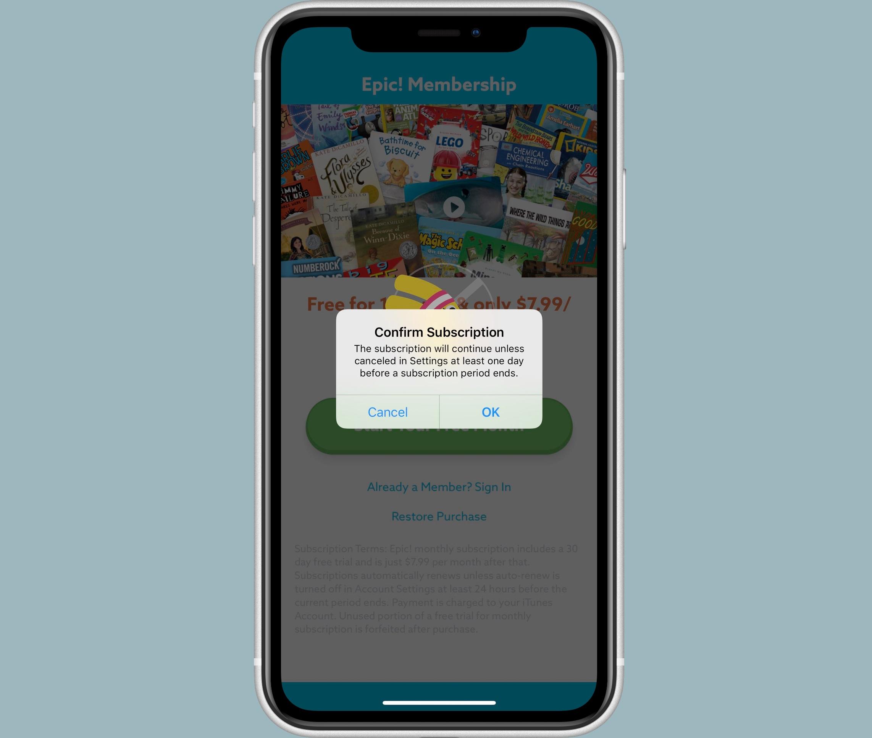 Apple App Store abonnementen bevestigen