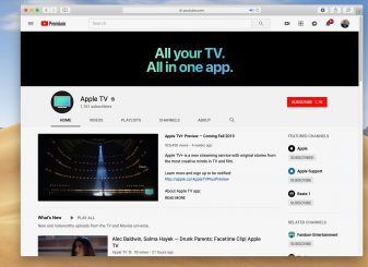 Apple TV+ op YouTube