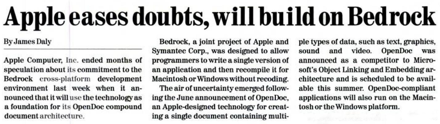 Apple bedrock
