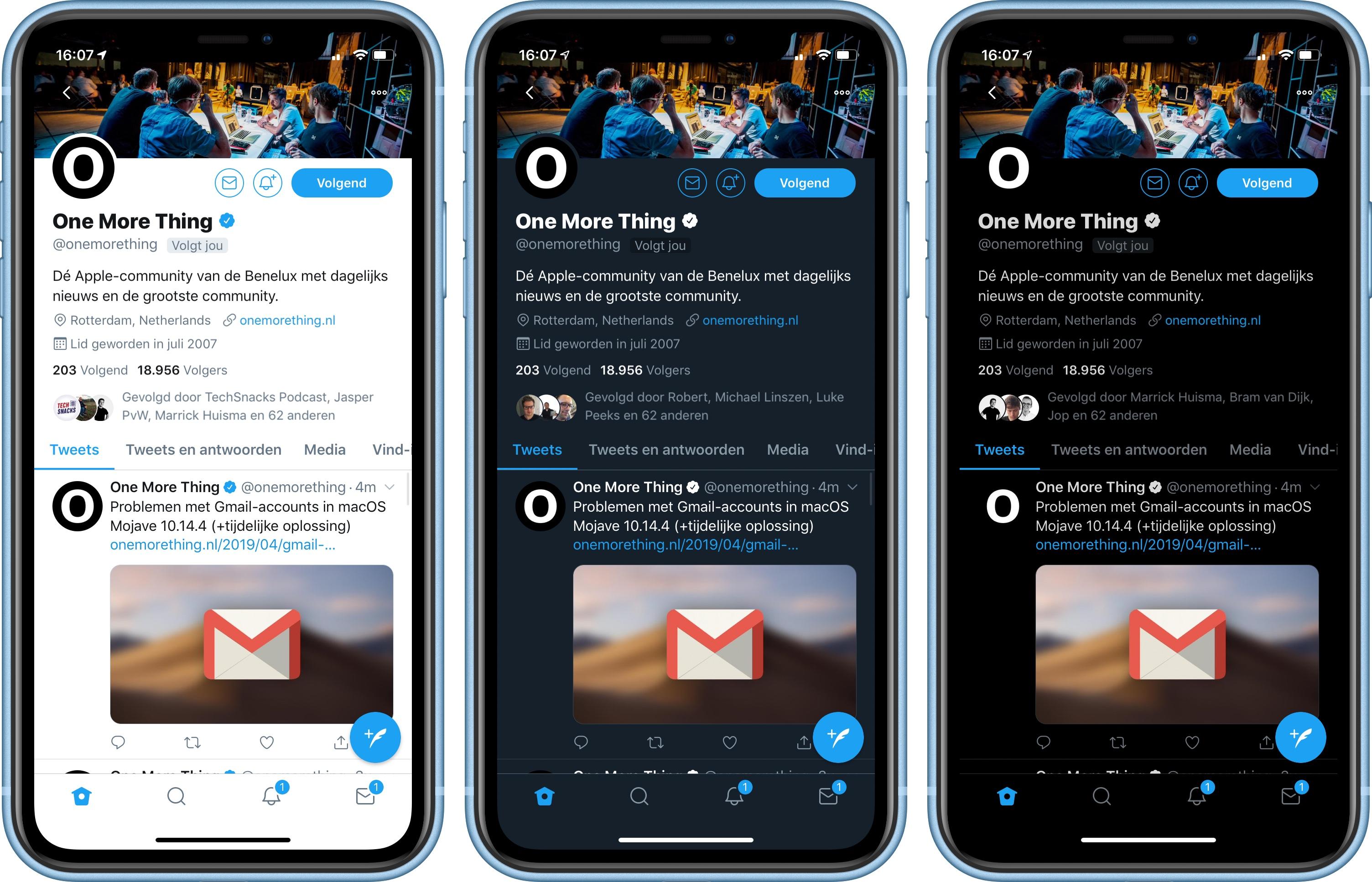 Twitter app dark mode