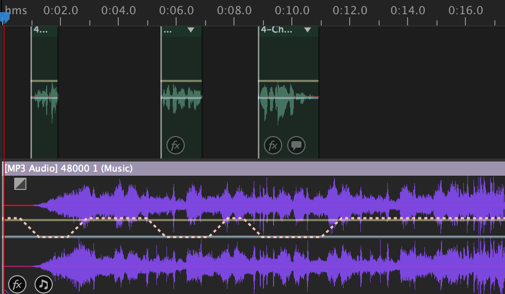 adobe audition auto ducking