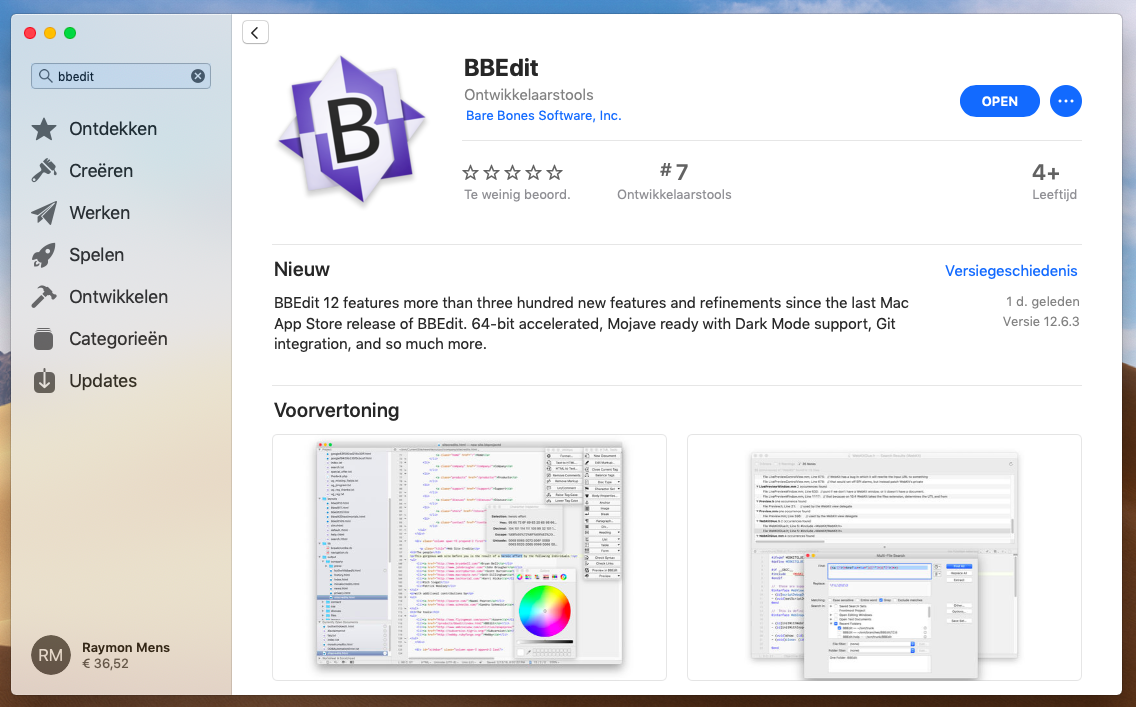 bbedit mac app store screenshot