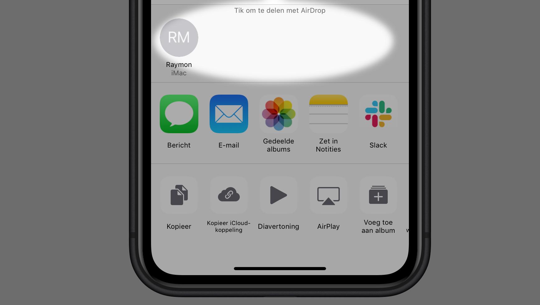 iPhone delen AirDrop