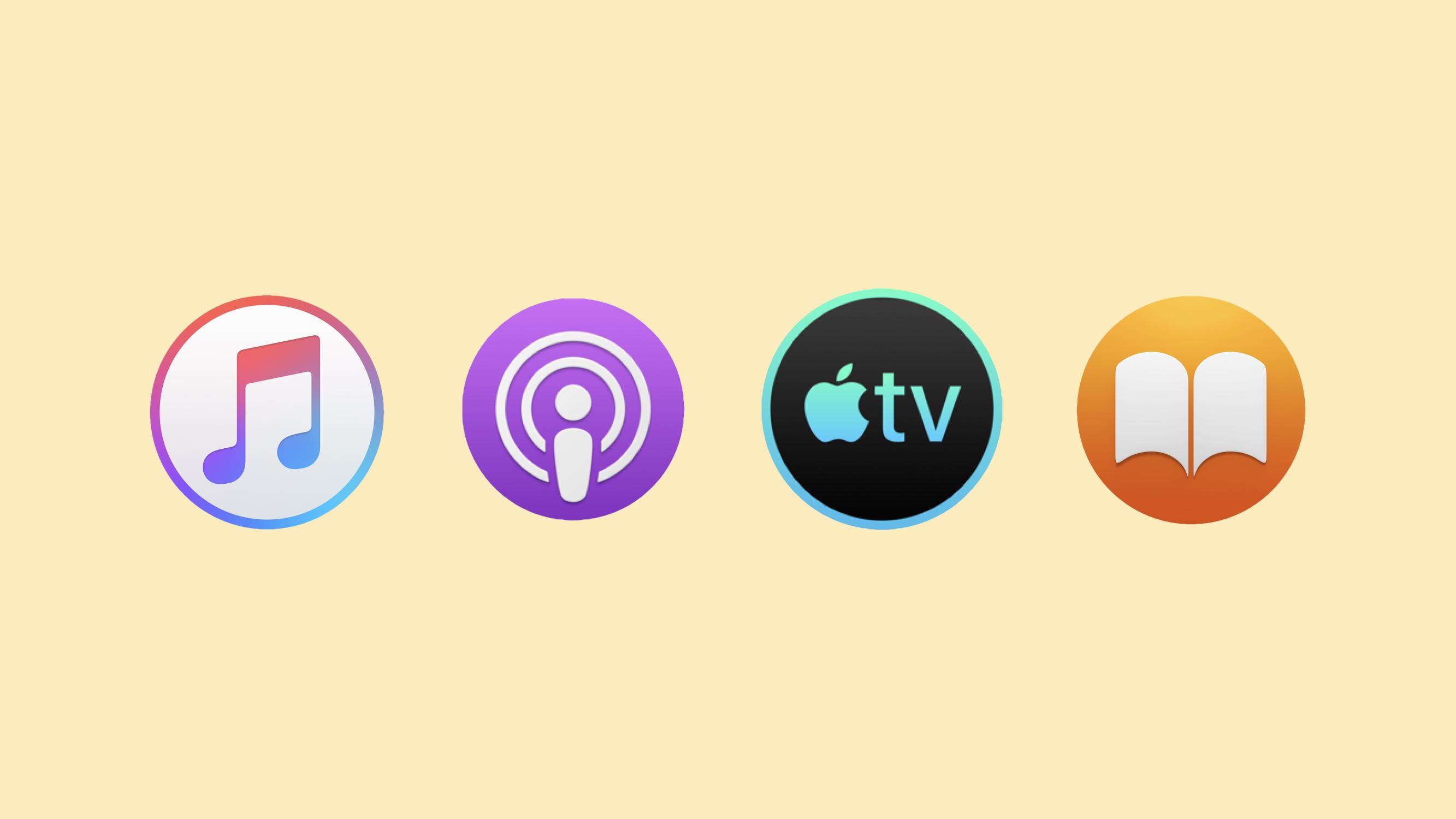 iTunes macOS 10.15 apps