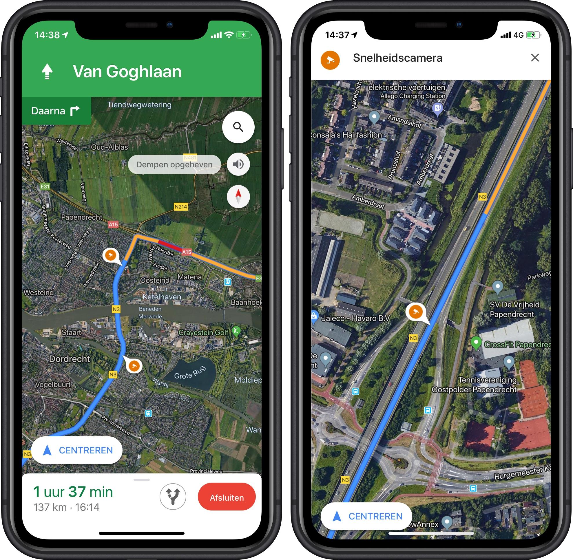 Google Maps flitsers 001