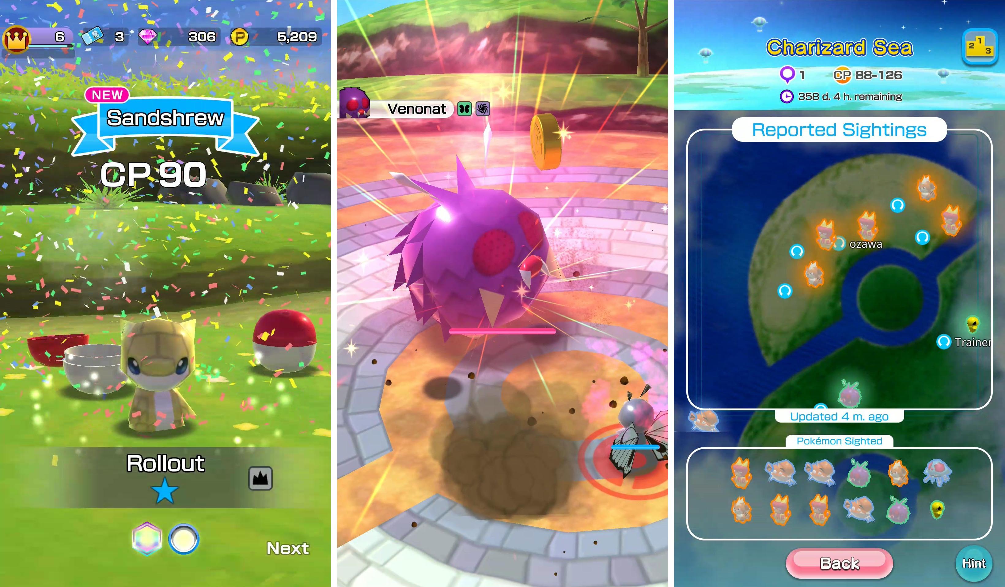 Pokémon Rumble Rush screenshots