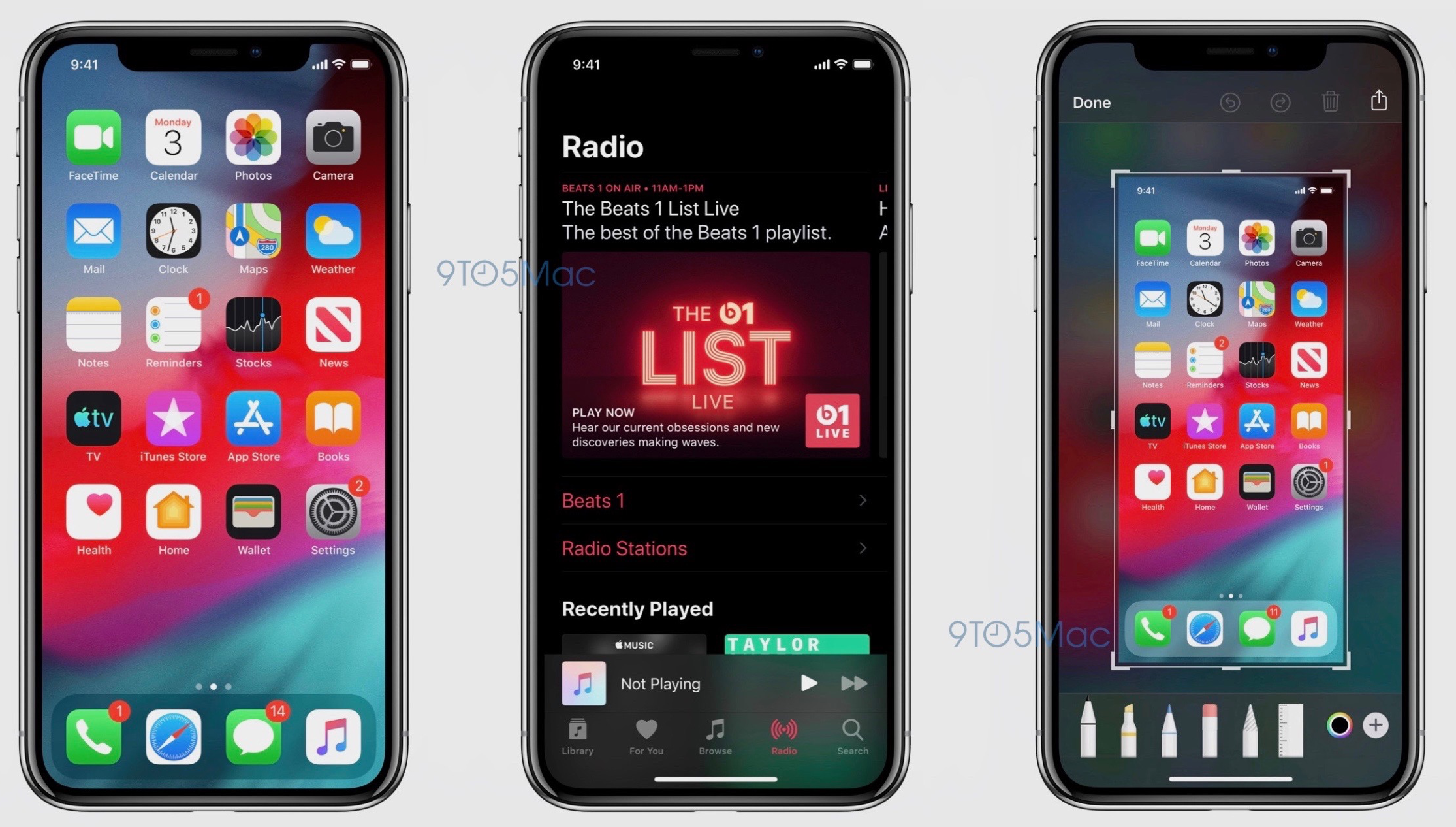 iOS 13 eerste screenshots dark mode 001