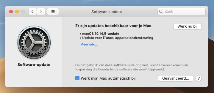 macOS Mojave 10.14.5 update