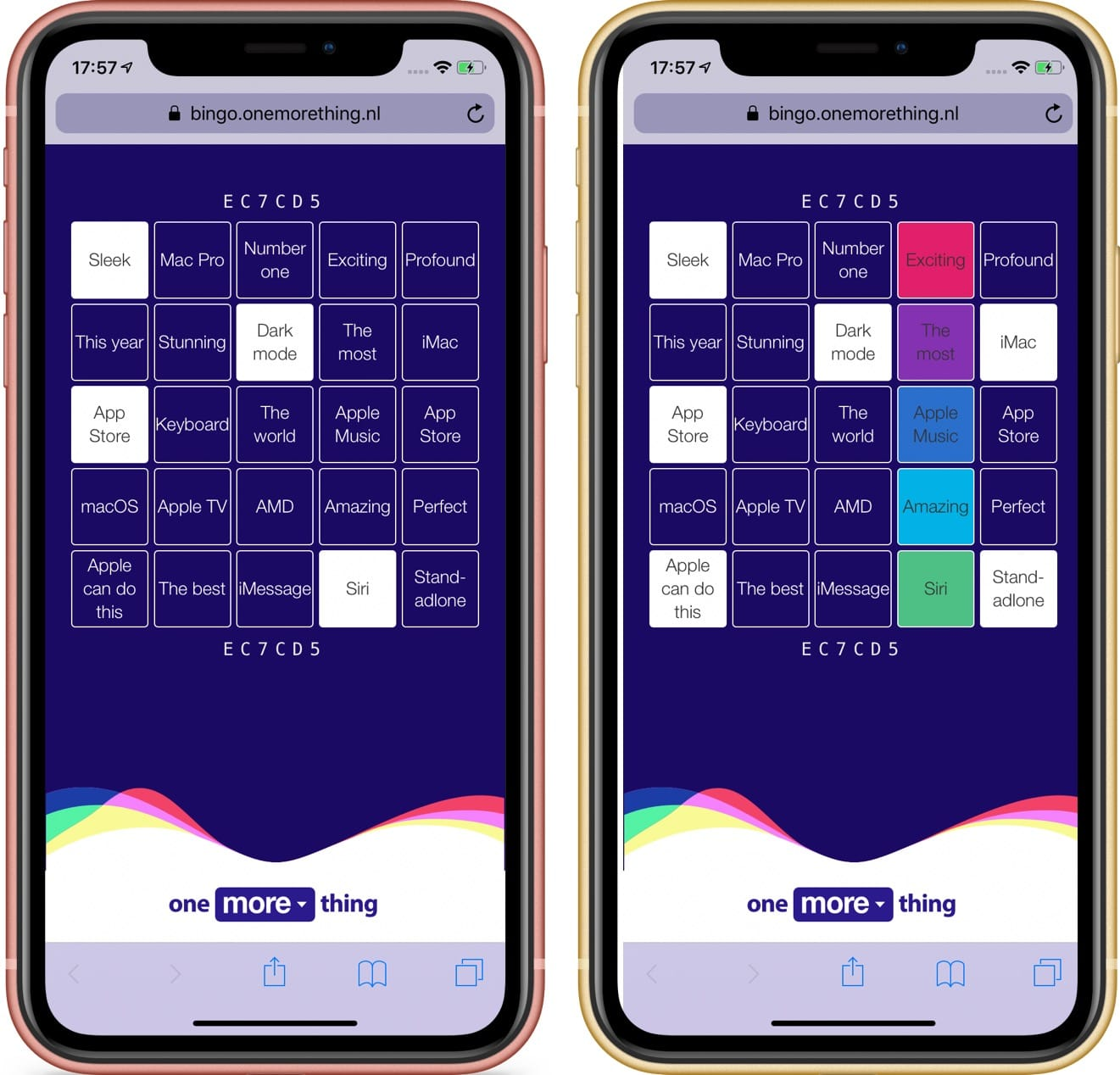 WWDC 2019 keynote bingo op iPhone XR