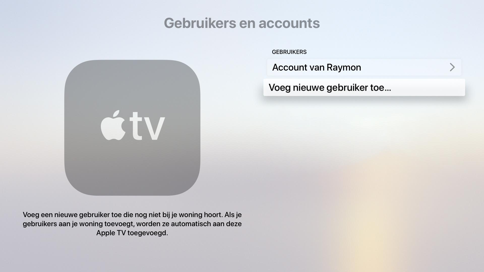 apple tv tvos 13 meerdere gebruikers