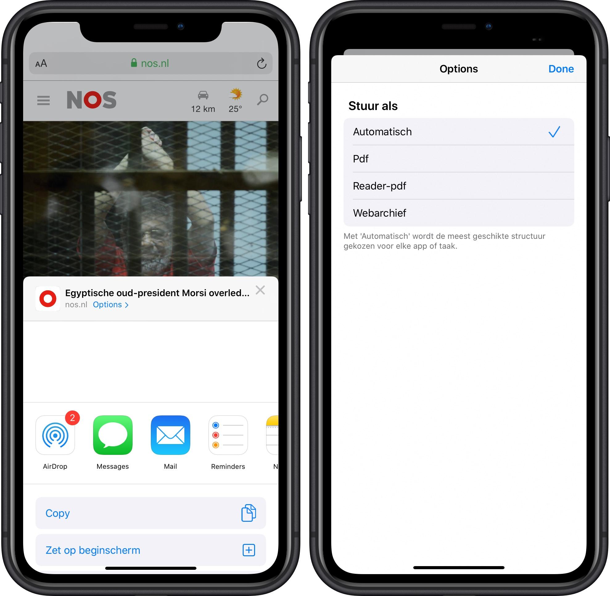 iOS 13 beta 2 opties voor delen 001