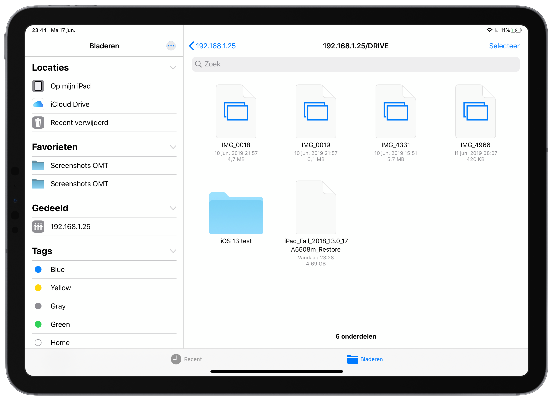 iOS 13 beta 2 smb