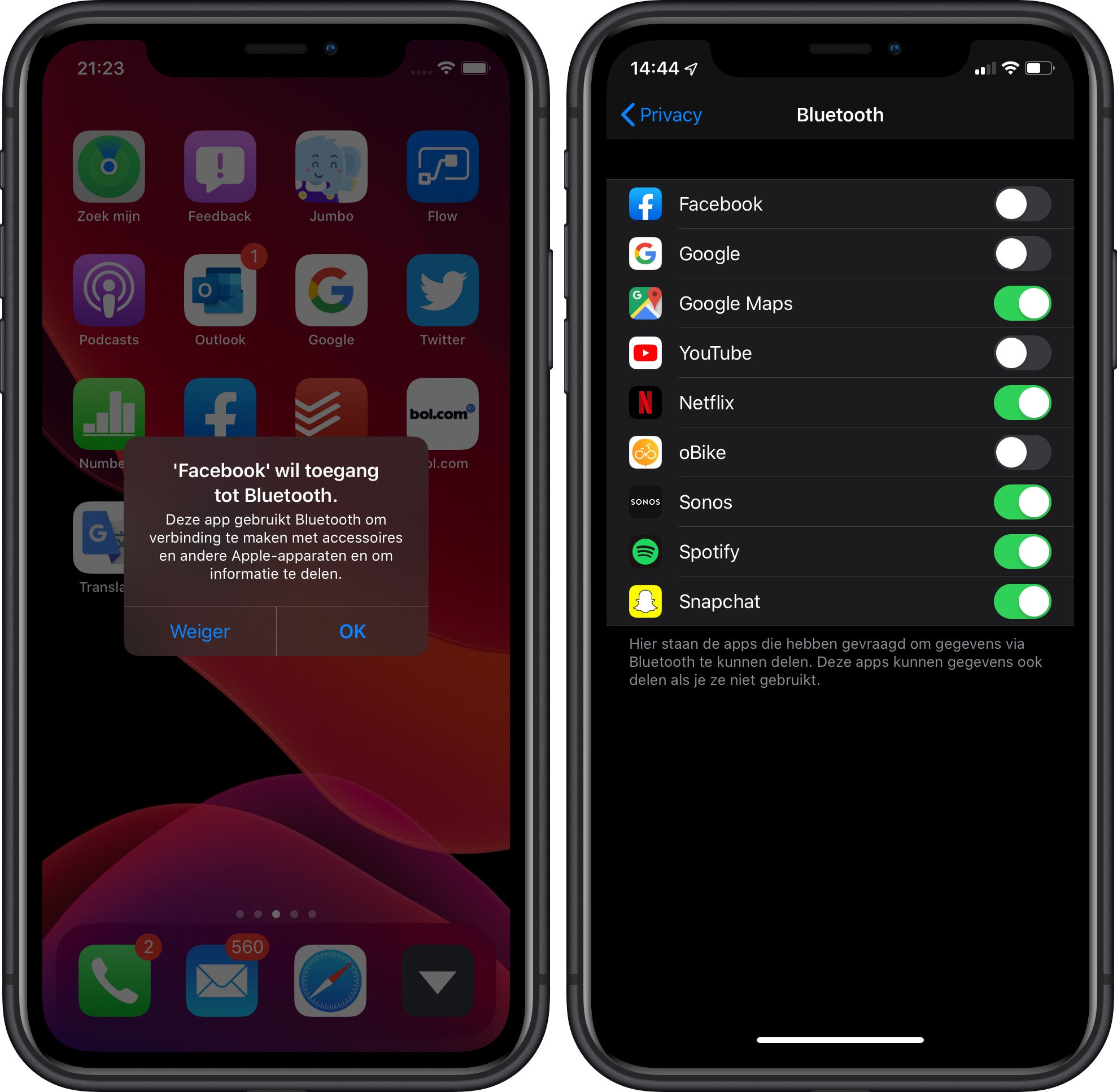 iOS 13 privacy bluetooth 001