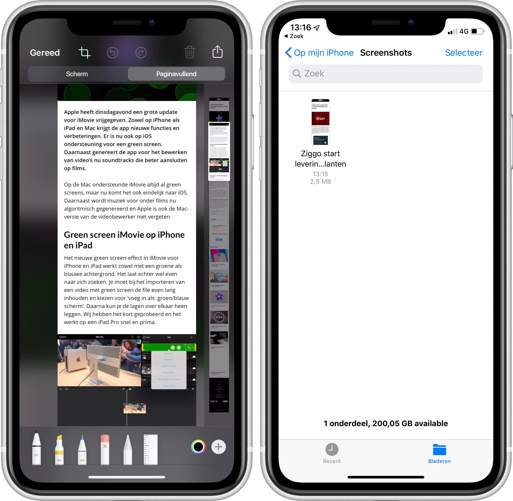 iOS 13 screenshot paginavullend 001