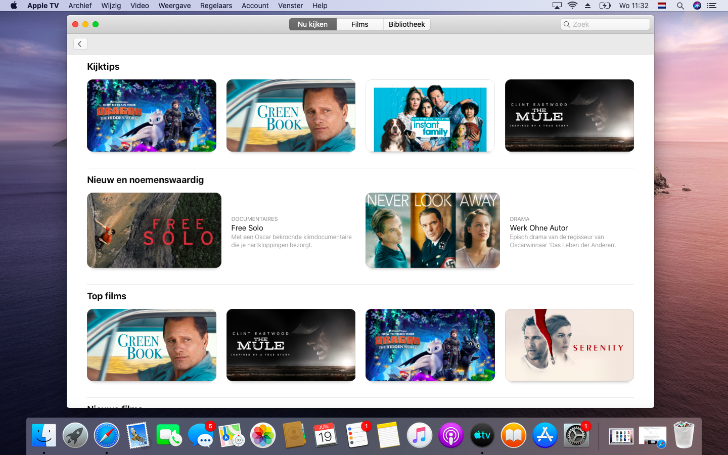 macOS Catalina iTunes Movies TV App