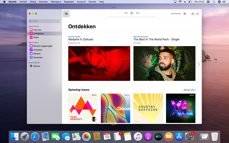 macOS Catalina muziek-app opvolger iTunes Apple Music
