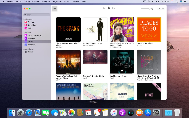 macOS Catalina muziek-app opvolger iTunes