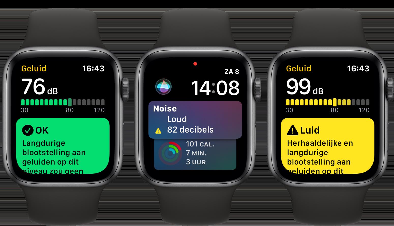 watchOS 6 Apple Watch Geluid-app