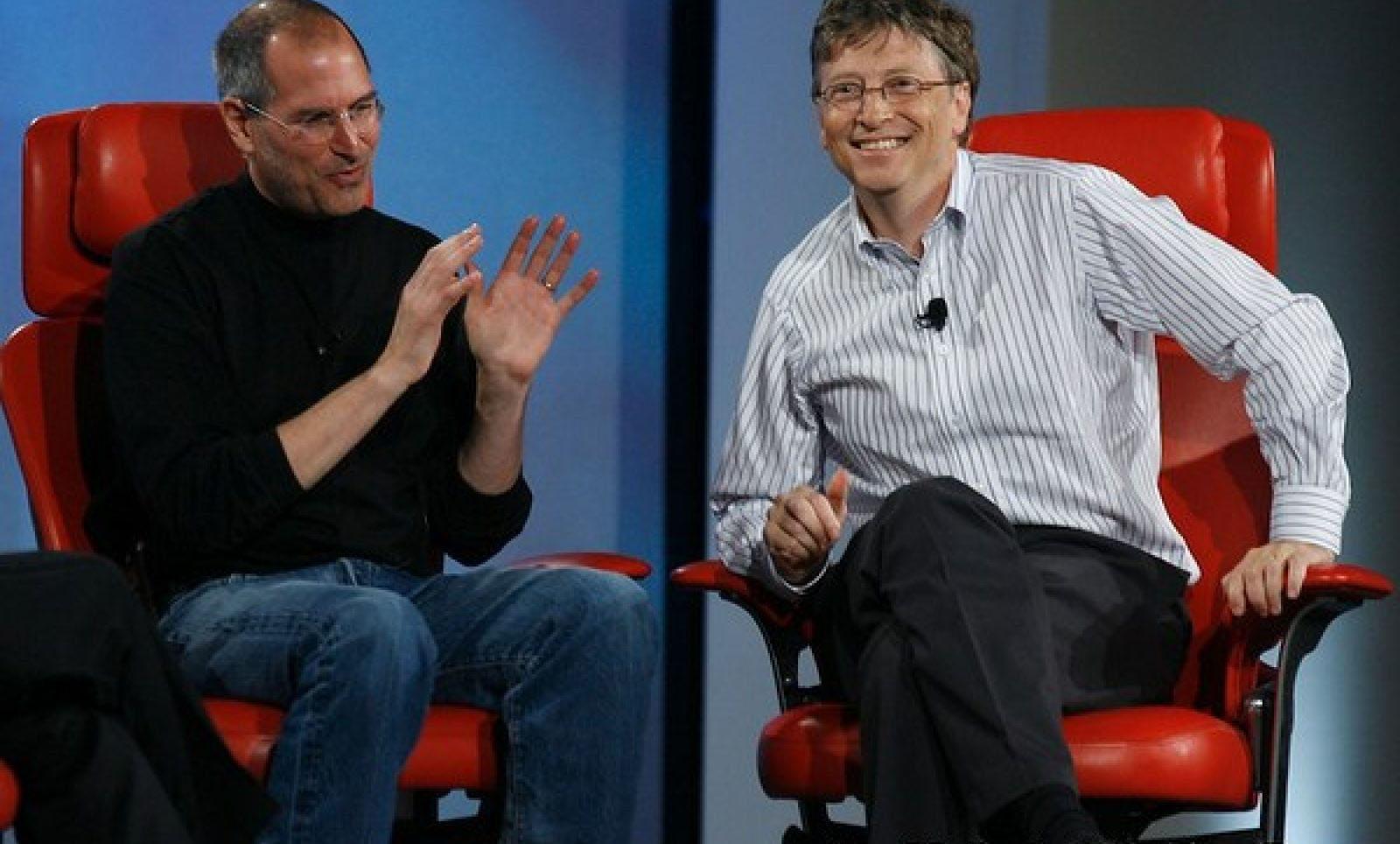 Steve Jobs en Bill Gates