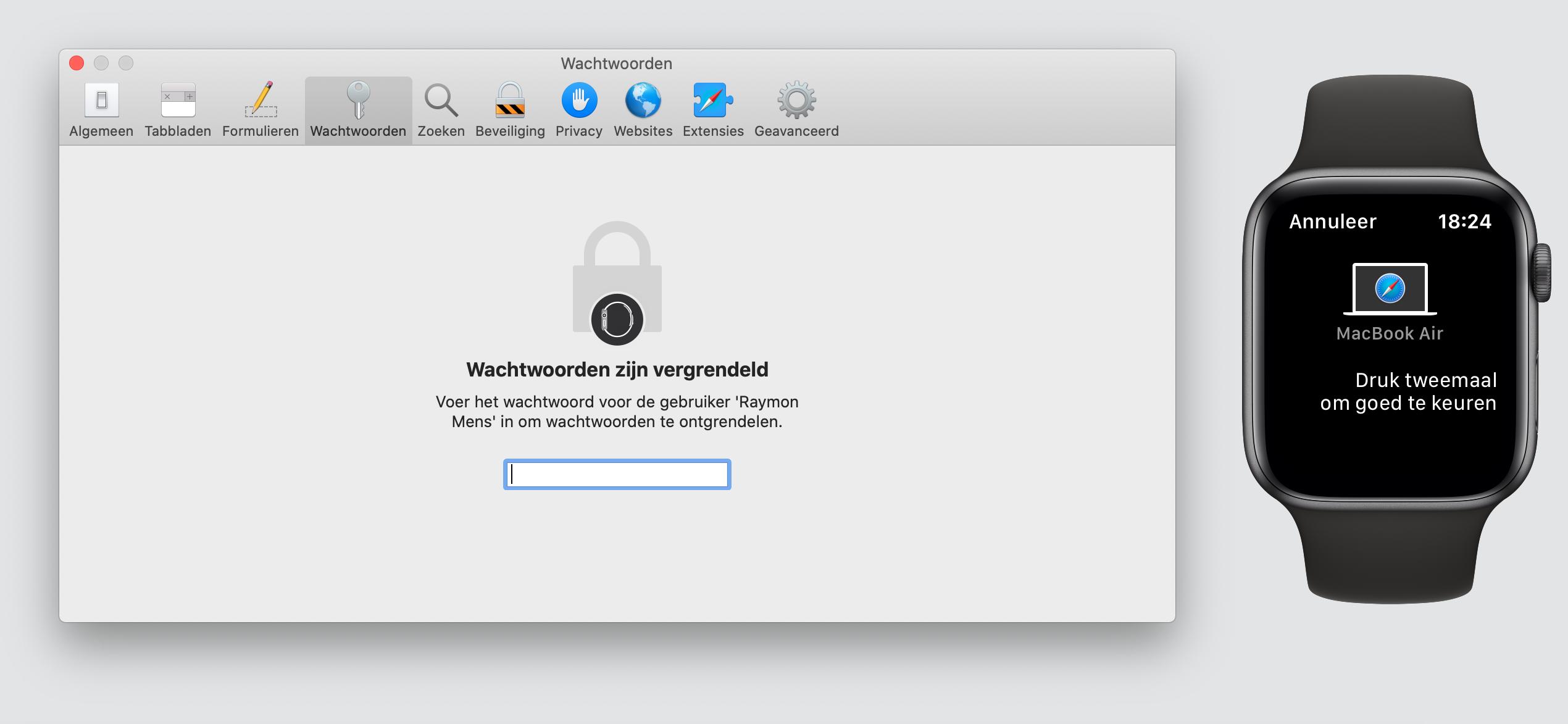 Apple Watch macOS Catalina watchOS 6 wachtwoorden
