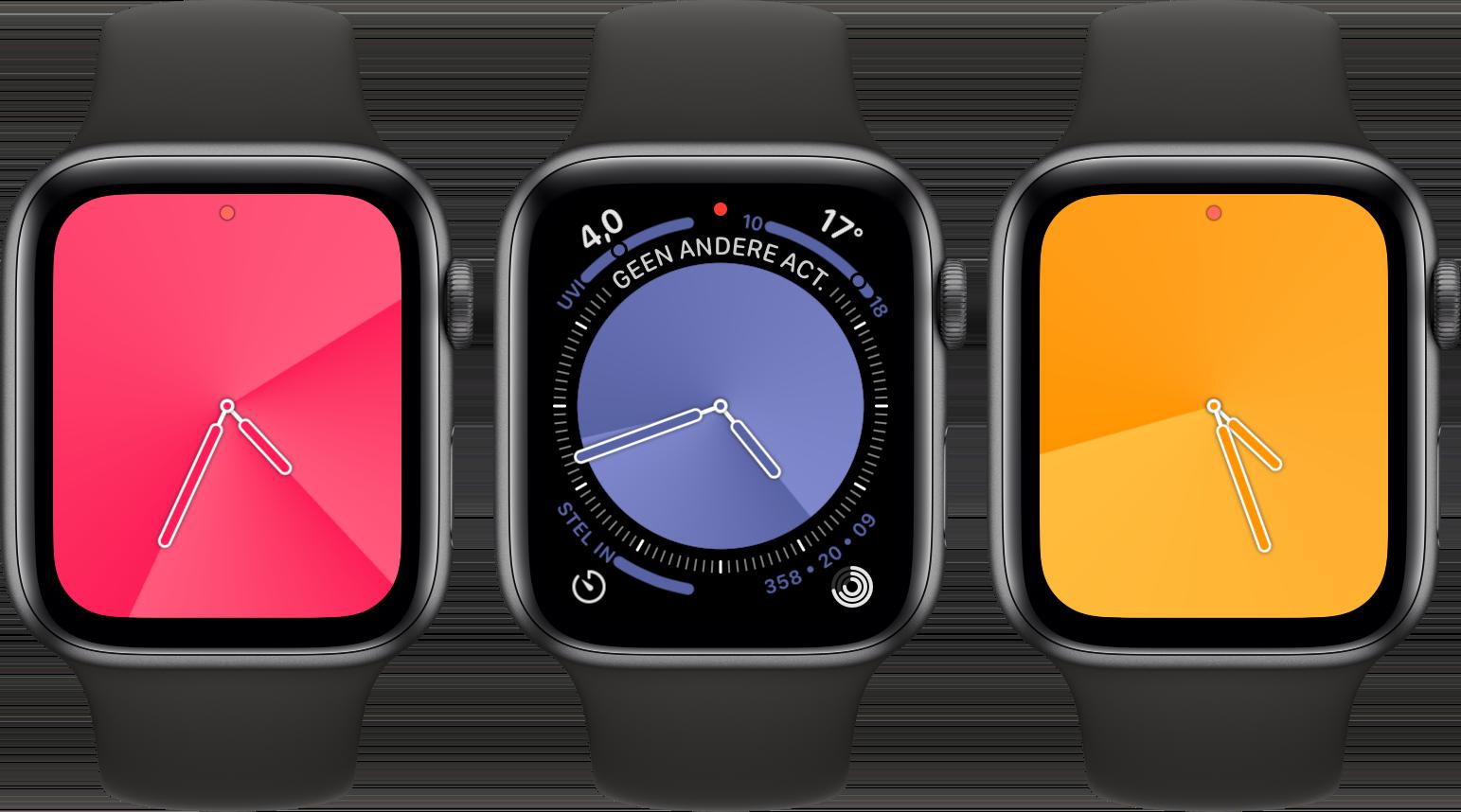 Apple Watch watchOS 6 gradient wijzerplaat 001