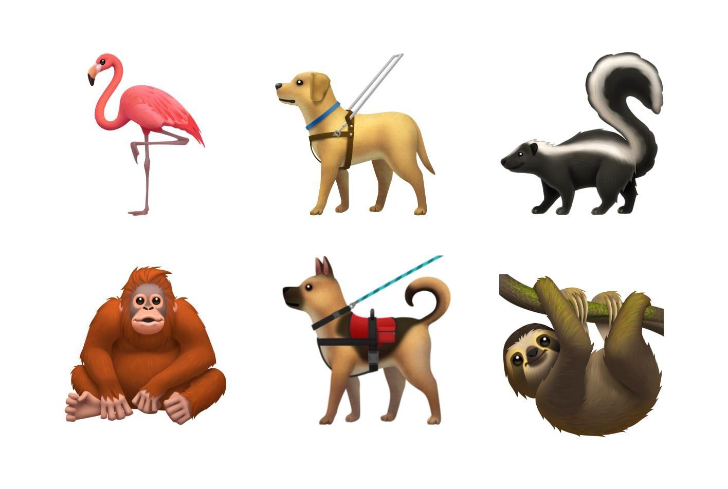 Apple emoji 2019 update - dieren