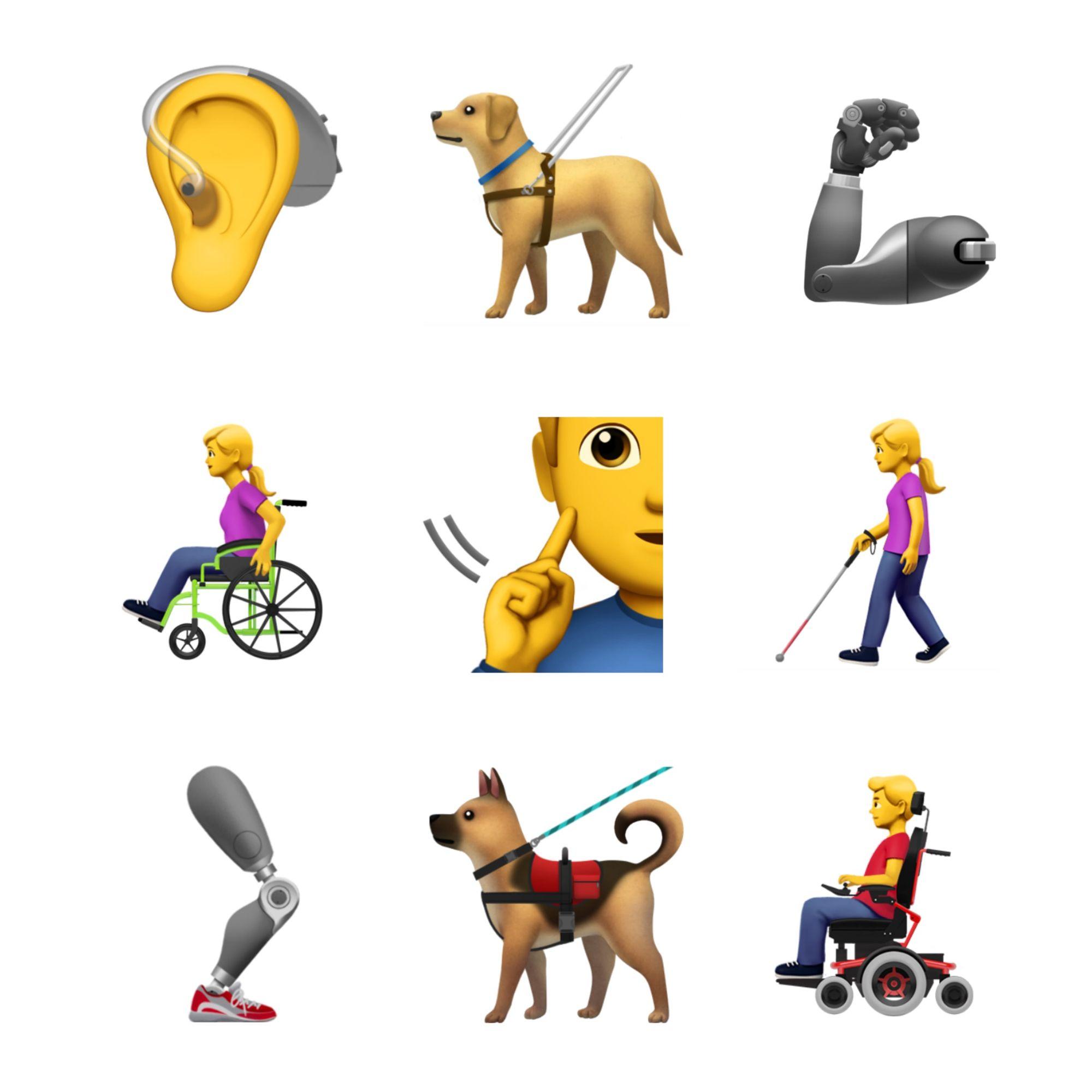 Apple emoji 2019 update - toegankelijkheid
