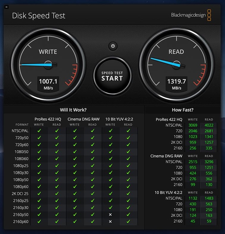 MacBook Air 2019 speed SSD