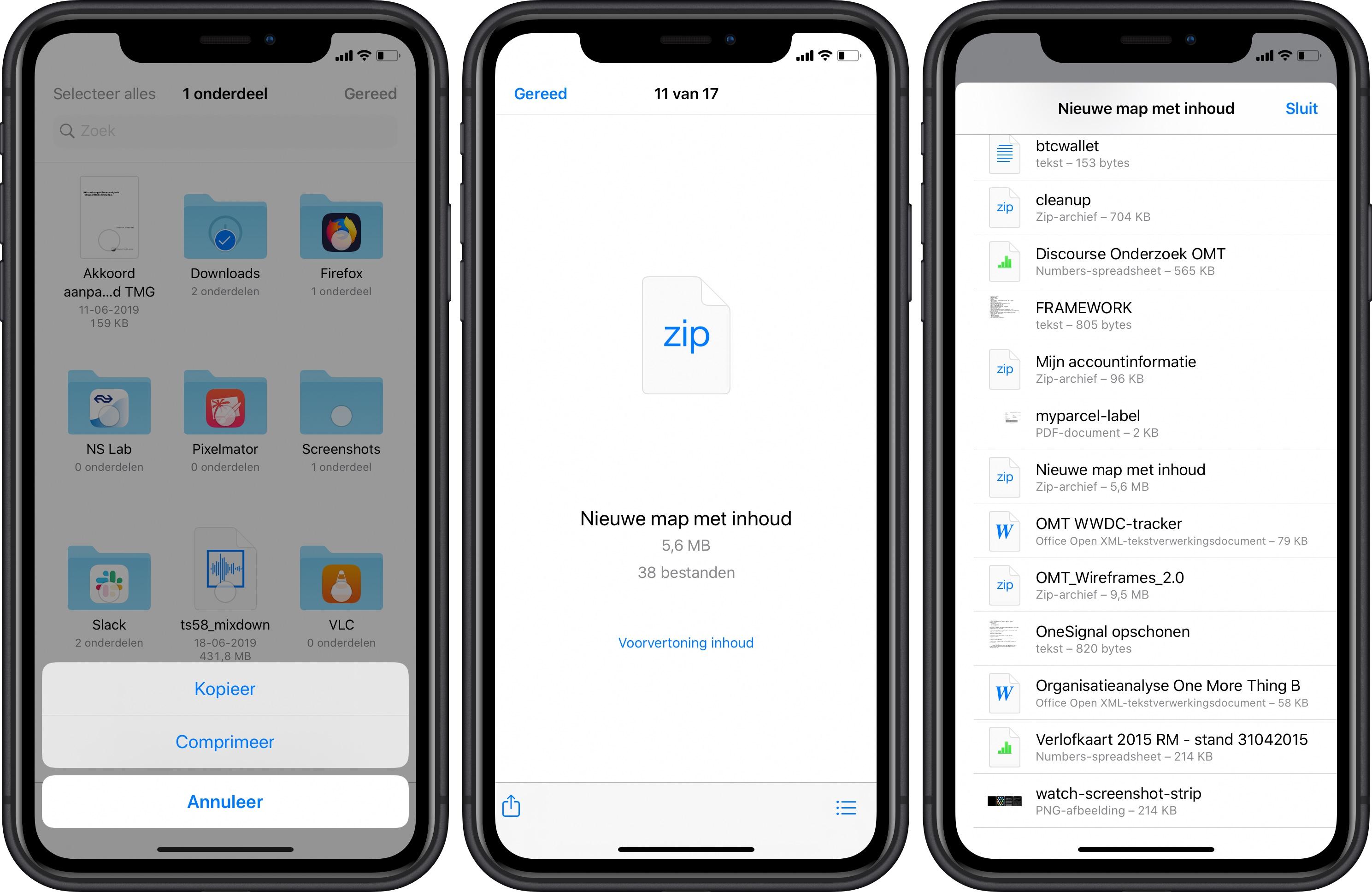 iOS 13 iPadOS 13 bestanden-app zip 001