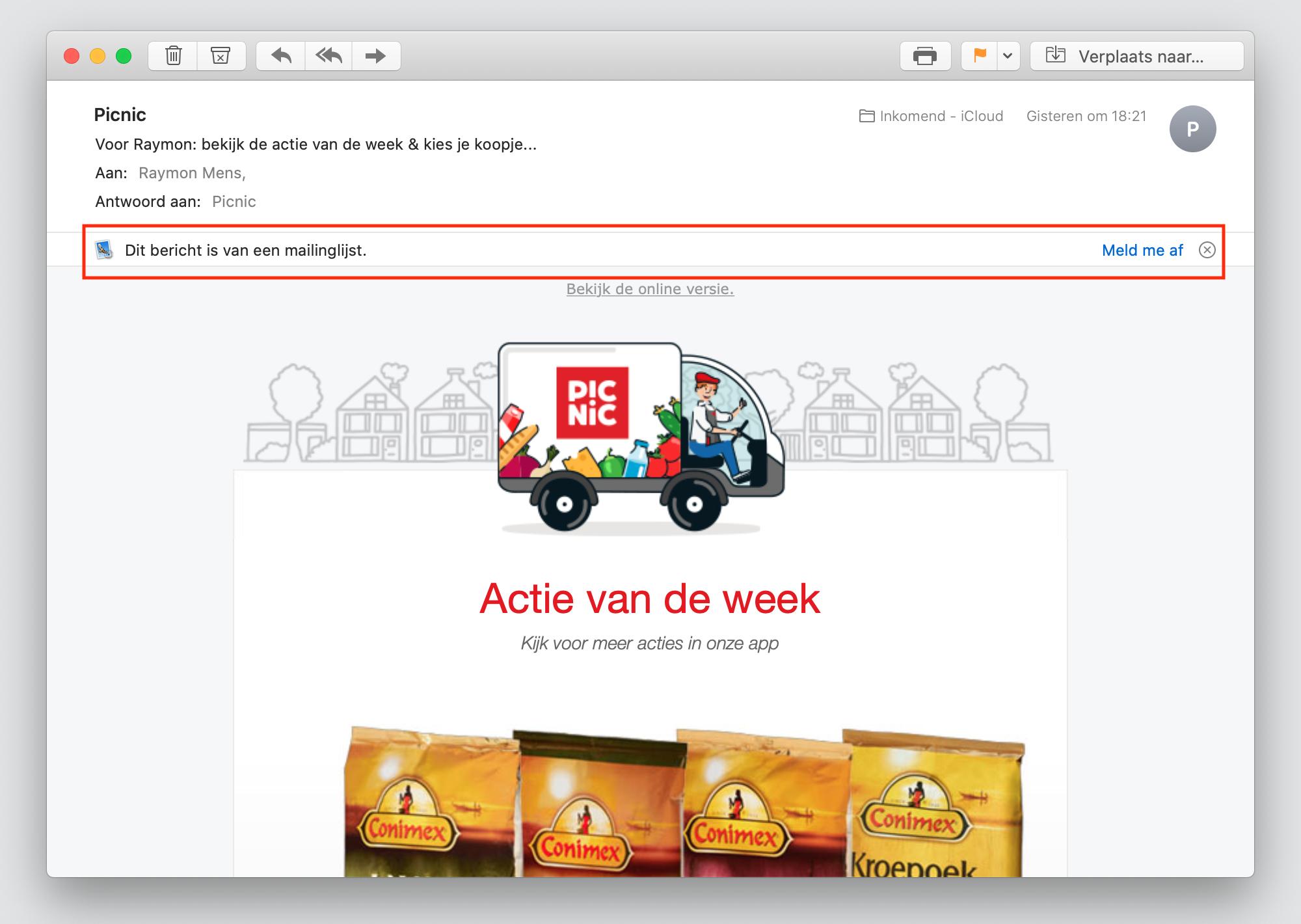 macos catalina mail-app afmelden